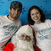 Amber and Jeremy with Santa