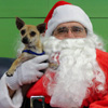 Itty with Santa Claws