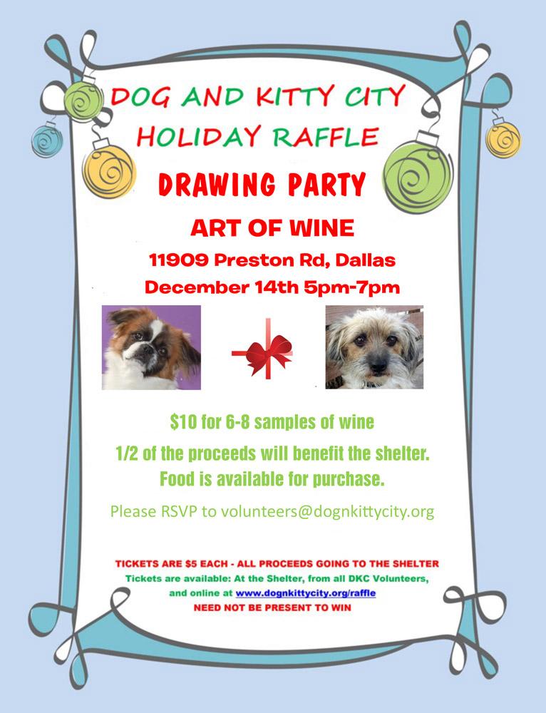 Holiday Raffle 2013 Winners Humane Society Of Dallas County